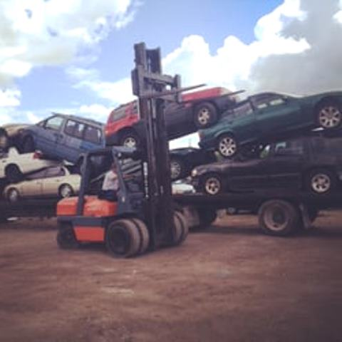 Junk Cars Being Removed